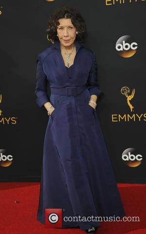 Lily Tomlin seen on the red carpet at the 68th Annual Primetime Emmy Awards held at the Microsoft Theater Los...