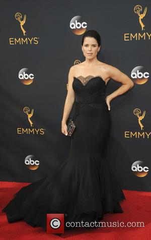 Neve Campbell seen on the red carpet at the 68th Annual Primetime Emmy Awards held at the Microsoft Theater Los...