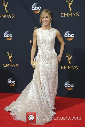 Felicity Huffman seen on the red carpet at the 68th Annual Primetime Emmy Awards held at the Microsoft Theater Los...