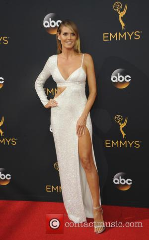 Heidi Klum seen on the red carpet at the 68th Annual Primetime Emmy Awards held at the Microsoft Theater Los...