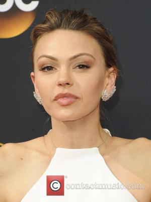Aimee Teegarden seen on the red carpet at the 68th Annual Primetime Emmy Awards held at the Microsoft Theater Los...