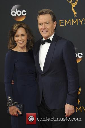 Bryan Cranston and Robin Dearden seen on the red carpet at the 68th Annual Primetime Emmy Awards held at the...