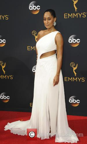 Tracee Ellis Ross seen on the red carpet at the 68th Annual Primetime Emmy Awards held at the Microsoft Theater...