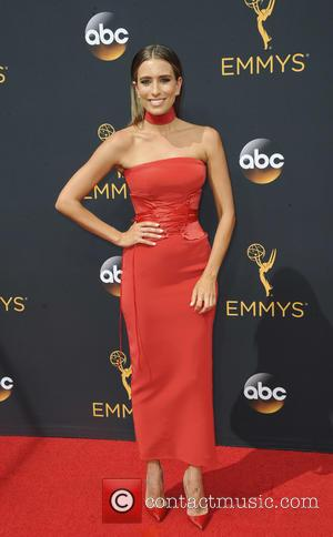 Renee Bargh seen on the red carpet at the 68th Annual Primetime Emmy Awards held at the Microsoft Theater Los...