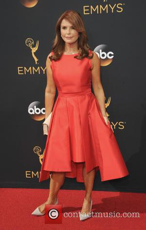 Roma Downey seen on the red carpet at the 68th Annual Primetime Emmy Awards held at the Microsoft Theater Los...