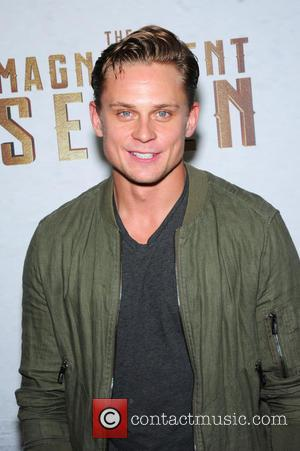 Billy Magnussen attending the New York premiere of 'The Magnificent Seven' held at the Museum of Modern Art in New...