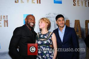 Antoine Fuqua, Haley Bennett and Martin Sensmeier