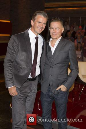 Markus Lanz , Bryan Adams - Bryan Adams at the German ZDF TV Talkshow Markus Lanz at Fernsehmacher-Studio - Hamburg,...