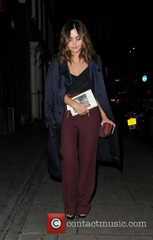 Jenna Coleman arrives at Soho House for a dinner party after the Burberry Prorsum show - London, United Kingdom -...