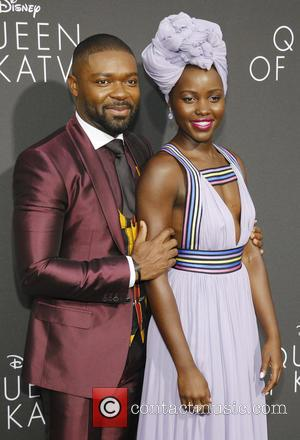 David Oyelowo and Lupita Nyong'o arrive at the film premiere of 'Queen of Katwe' - Los Angeles, California, United States...