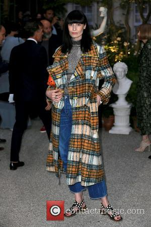 Erin O'Connor seen outside the Burberry runway event at London Fashion Week Spring/Summer 2017 preview London, United Kingdom - Tuesday...