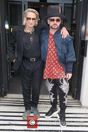 Boy George and Marilyn pictured arriving at the Radio 2 studio at BBC Western House - London, United Kingdom -...