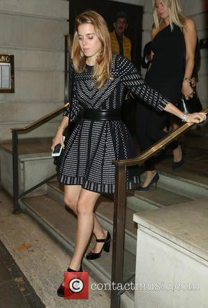 Princess Beatrice seen out having dinner in London with her mother Sarah Ferguson and Elie Goulding. - London, United Kingdom...