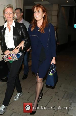 Sarah Ferguson seen out having dinner with her daughter Princess Beatrice and Ellie Goulding. London, United Kingdom - Thursday 22nd...