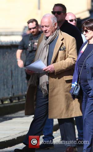 Sir Anthony Hopkins on the film set of 'Transformers: The Last Knight' in Oxford, United Kingdom - Friday 23rd September...