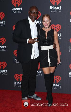Eric Dickerson seen entering the iHeartRadio Music Festival held at T-Mobile Arena in Las Vegas, Nevada, United States - Friday...