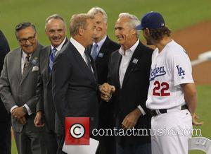 Kevin Costner, Clayton Kershaw and Sandy Koufax