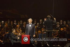Soprano Elisa Balbo sings with Andrea Bocelli at the SSE Hydro - Glasgow, Scotland, United Kingdom - Saturday 24th September...