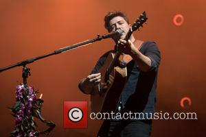 Marcus Mumford and the rest of Mumford & Sons performing at the Life Is Beautiful Festival 2016 - Los Angeles,...