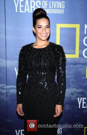America Ferrera at National Geographic's 'Years Of Living Dangerously' Season 2 World Premiere held at American Museum of Natural History...