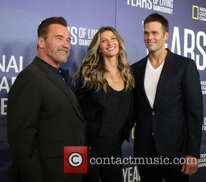 Arnold Schwarzenegger, Gisele Bundchen and Tom Brady