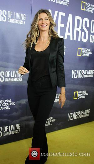 Gisele Bundchen at National Geographic's 'Years Of Living Dangerously' Season 2 World Premiere held at American Museum of Natural History...