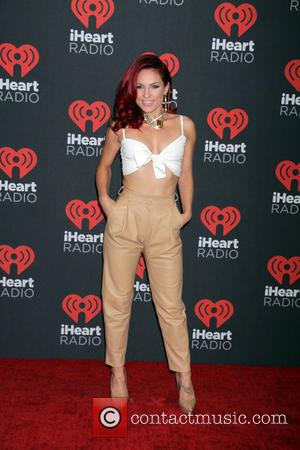 Sharna Burgess and James Hinchcliffe seen entering the iHeartRadio Music Festival held at T-Mobile Arena in Las Vegas, Nevada, United...