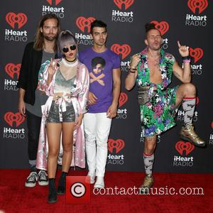 DNCE seen entering the iHeartRadio Music Festival held at T-Mobile Arena Las Vegas, Nevada, United States - Saturday 24th September...