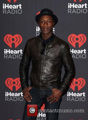 Aloe Blacc seen entering the iHeartRadio Music Festival held at T-Mobile Arena Las Vegas, Nevada, United States - Saturday 24th...