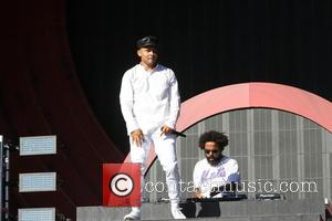 Walshy Fire and Jillionaire of Major Lazer on stage at the 2016 Global Citizen Festival held in Central Park, New...