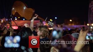 Wesley Schultz and the rest of The Lumineers seen performing at Life is Beautiful Festival held in Downtown Las Vegas,...