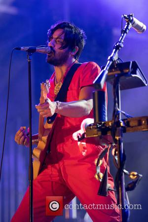 Sameer Gadhia of Young the Giant seen performing at Life is Beautiful Festival held in Downtown Las Vegas, California, United...