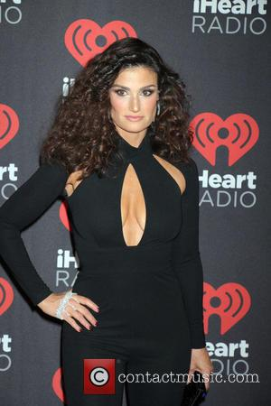 Idina Menzel seen entering the 2016 iHeartMusic Festival on the second Night held at TMobile Arena in Las Vegas, Nevada,...