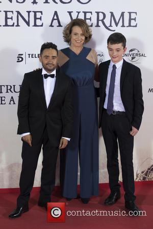 Sigourney Weaver, Jose Antonio Bayona and Lewis Mcdougall
