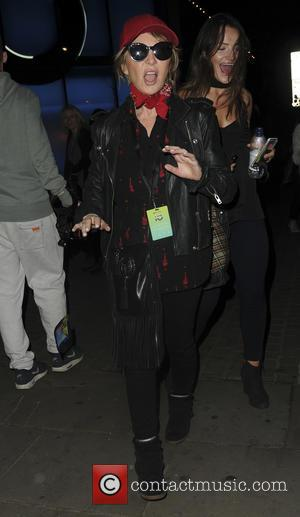 Lulu leaving Apple Music Festival after seeing Britney Spears perform - London, United Kingdom - Tuesday 27th September 2016