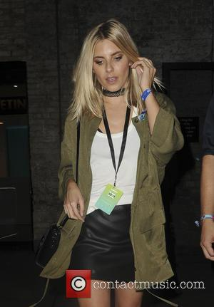 Mollie King leaving Apple Music Festival after seeing Britney Spears perform - London, United Kingdom - Tuesday 27th September 2016