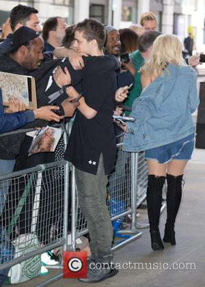 Bebe Rexha and Martin Garrix pictured arriving at the Radio 1 studios at BBC Portland Place - London, United Kingdom...
