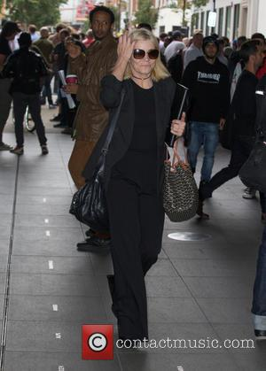Michelle Collins seen outside the BBC Radio 1 studios located at BBC Portland Place - London, United Kingdom - Tuesday...