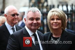 Eamonn Holmes and Ruth Langsford arrive at the Service of Thanksgiving for Sir Terry Wogan. Friends, Family and colleagues gather...