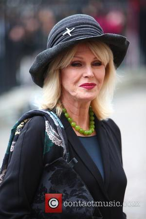 Joanna Lumley arrives at the Service of Thanksgiving for Sir Terry Wogan. Friends, Family and colleagues gather at  Westminster...