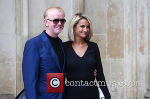 Chris Evans and Natasha Shishmanian arrives at the Service of Thanksgiving for Sir Terry Wogan. Friends, Family and colleagues gather...