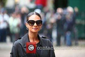 Alesha Dixon arrives at the Service of Thanksgiving for Sir Terry Wogan. Friends, Family and colleagues gather at  Westminster...