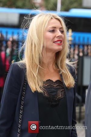 Tess Daly arrives at the Service of Thanksgiving for Sir Terry Wogan. Friends, Family and colleagues gather at  Westminster...