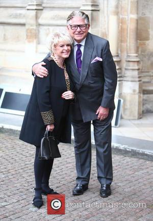 Gloria Hunniford and Stephen Way arrives at the Service of Thanksgiving for Sir Terry Wogan. Friends, Family and colleagues gather...