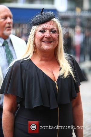 Vanessa Feltz arrives at the Service of Thanksgiving for Sir Terry Wogan. Friends, Family and colleagues gather at  Westminster...