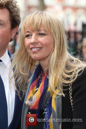 Sara Cox arrives at the Service of Thanksgiving for Sir Terry Wogan. Friends, Family and colleagues gather at  Westminster...