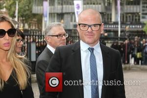 Heston Blumenthal arrives at the Service of Thanksgiving for Sir Terry Wogan. Friends, Family and colleagues gather at  Westminster...