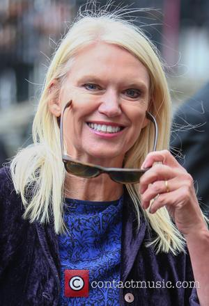 Anneka Rice arrives at the Service of Thanksgiving for Sir Terry Wogan. Friends, Family and colleagues gather at  Westminster...