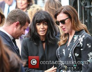 Dermot O'Leary and Claudia Winkleman arrives at the Service of Thanksgiving for Sir Terry Wogan. Friends, Family and colleagues gather...