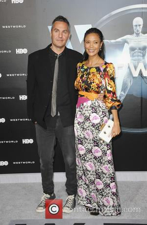 Thandie Newton and Ol Parker at the premiere of the HBO drama series 'Westworld'  - Los Angeles, California, United...